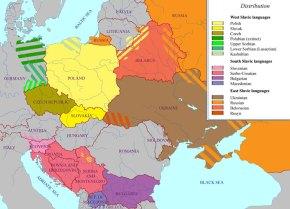 Peta Perkembangan Bahasa Slavik di Eropah dan Asia
