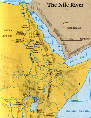 the_nile_river-map