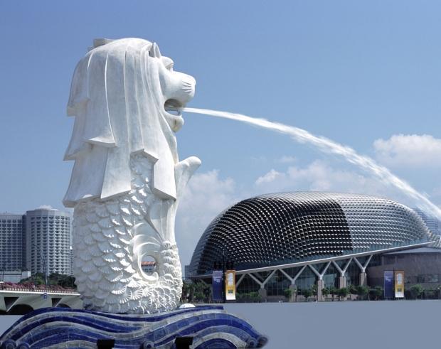 Singapore Lion Fountain Symbol