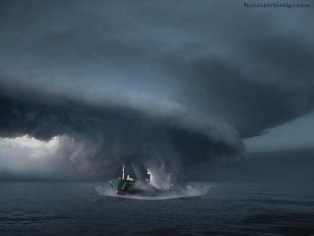 Imagenation hurricane at Bermuda Triangle
