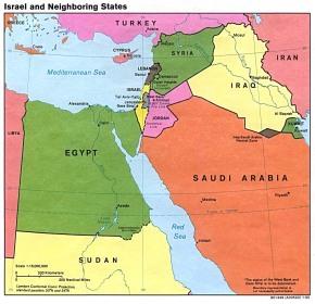 Kedudukan Negara Haram Israel dan Jiran sebelahnya