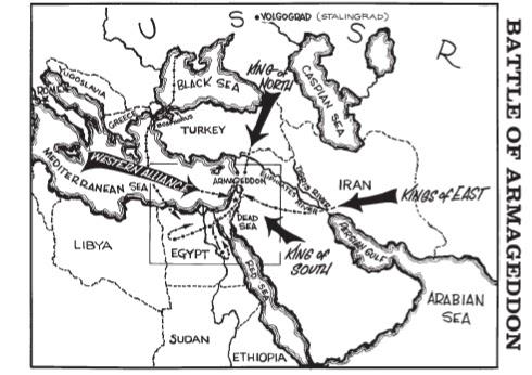 Lakaran Peta Tempat Jangkaan Armageddon