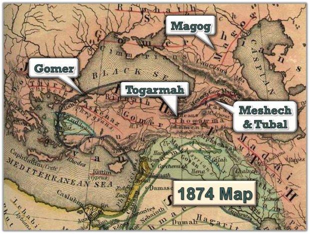 Peta Kuno Syam, Turki, dan sekitarnya